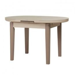 Раскладной кухонный стол TM-75 матовый капучино-латте (120-145)*80*75(Н) Vetro
