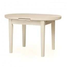 Раскладной кухонный стол TM-75 матовый молочный (120-145)*80*75(Н) Vetro