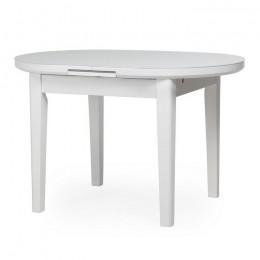 Раскладной кухонный стол TM-75 матовый снежно-белый (120-145)*80*75(Н) Vetro