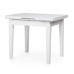 Раскладной кухонный стол TM-79 матовый снежно-белый (90-115)*70*75(Н) Vetro