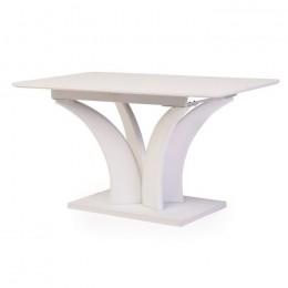 Раздвижной обеденный стол ТМL-515 матовый белый (140-180)*80*76(Н) Vetro