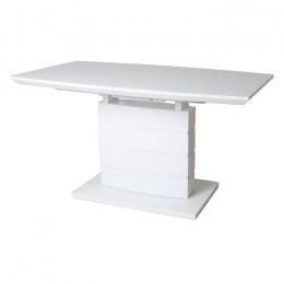 Раздвижной обеденный стол TMM-50-1 матовый белый (120-160)*80*76(Н) Vetro