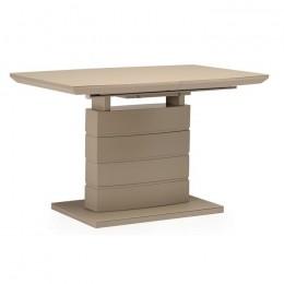 Раздвижной обеденный стол TMM-50-1 матовый капучино (120-160)*80*76(Н) Vetro
