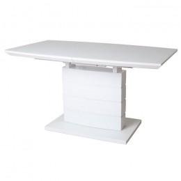 Раздвижной обеденный стол TMM-50-2 матовый белый (110-150)*70*76(Н) Vetro