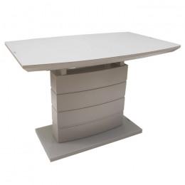 Раздвижной обеденный стол TMM-50-2 матовый капучино (110-150)*70*76(Н) Vetro