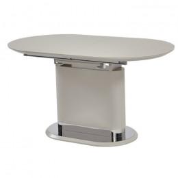 Раздвижной обеденный стол ТММ-56 матовый капучино (140-180)*80*76(Н) Vetro