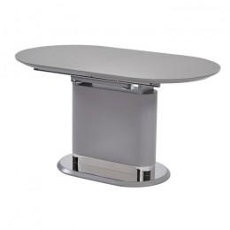 Раздвижной обеденный стол ТММ-56 матовый серый (140-180)*80*76(Н) Vetro