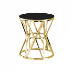 Кофейный столик CH-1 черный + золото D50*57(H) Vetro