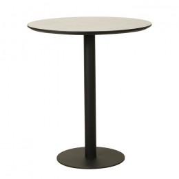 Высокий барный стол ВТ-01 бетон D80*95(H) Vetro