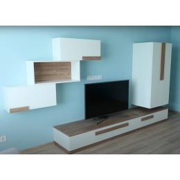 Недорогая телевизионная стенка из ламинированного ДСП
