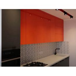 Кухня МДФ крашенный со столешницей из искусственного камня