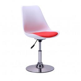 Барный стул Aster chrome белый+красный AMF