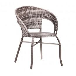 Кресло Catalina ротанг серый AMF