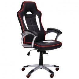 Кресло Драйв 2 черный/белый AMF