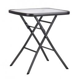 Стол Mexico т.серый, стекло AMF