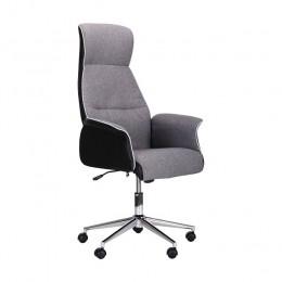 Кресло Brooklyn хром Светло-серый, черный AMF