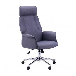 Кресло Madison хром, тк.серый AMF