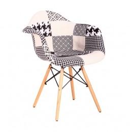Кресло Salex FB Wood Patchwork черно-белый AMF