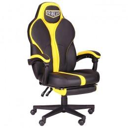 Кресло VR Racer Edge Throne черный/желтый AMF