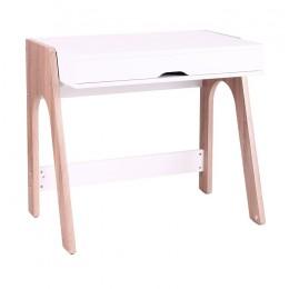Компьютерный стол Esenin белый+орех светлый/белый AMF
