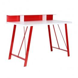 Компьютерный стол Mayakovsky красный/белый AMF