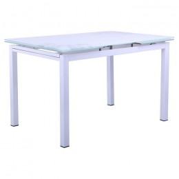 Стол Мишель 2000/1200*800*770 База белый/Стекло белый AMF