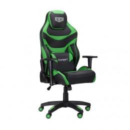 Кресло VR Racer Expert Champion черный/зеленый (рэйсер) AMF