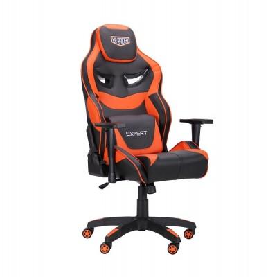 Кресло VR Racer Expert Genius черный/оранжевый (рэйсер) AMF