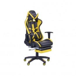 Кресло VR Racer BattleBee черный/желтый (рэйсер) AMF