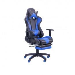 Кресло VR Racer Magnus черный/синий (рэйсер) AMF