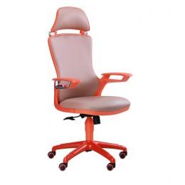 Кресло Boomer к/з хаки, каркас оранжевый AMF