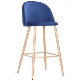 Барный стул Bellini (Беллини) бук/blue velvet AMF