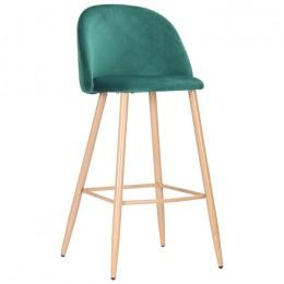 Барный стул Bellini (Беллини) бук/green velvet AMF