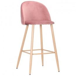 Барный стул Bellini (Беллини) бук/pink velvet AMF