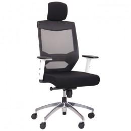 Кресло Admin (Админ) White Alum Black/Black AMF