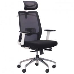 Кресло Install (Инстал) White, Alum, Black/Black AMF