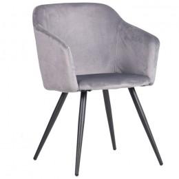 Кресло Lynette (Линетт) black/silver AMF