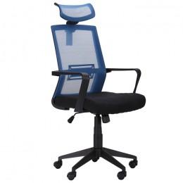 Кресло Neon (Неон) светло-синий/черный AMF