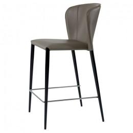 Барный стул хокер Arthur (Артур) пепельно-серый Concepto