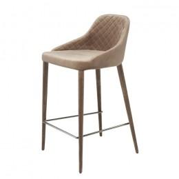 Барный стул хокер Elizabeth (Элизабет) теплый бежевый Concepto