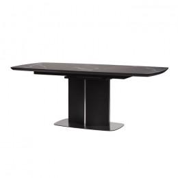 Стол обеденный Albury (Олбери) МДФ стекло 160см черный Concepto