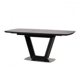 Стол обеденный Gloucester Dark Grey (Глостер Дарк Грей) МДФ стекло 140см Concepto