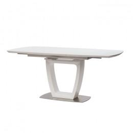 Стол обеденный Ravenna Matt White (Равенна Мет Уайт) МДФ стекло 140см Concepto