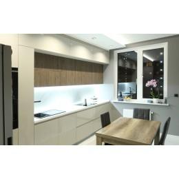 Кухня под потолок с фасадами МДФ крашенный глянец