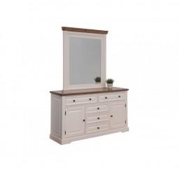 Будуарный стол + зеркало Калифорния (античный белый) Domini