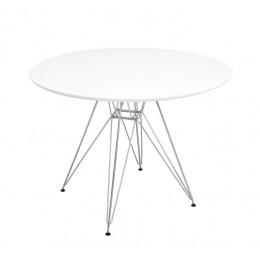 Стол Прайз d800*700 (белый) (металл) Domini