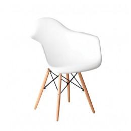 Кресло Прайз (ПЛ белый) (ольха) Domini