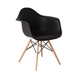 Кресло Прайз (ПЛ черный) (ольха) Domini