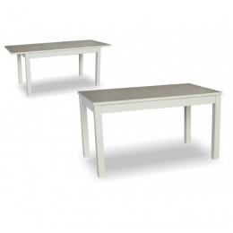 Стол Модерн бук 140 (+40)х80х75 (белый, бежевый)