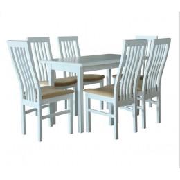 Стол обеденный Сид 120 (+30)х70х75 (белый, бежевый, ваниль)